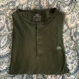 Lacoste Men's Forest Green Long Sleeve Size L(5)